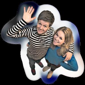 Magda Kokai & Emelie Gyllander-Tano. Verksamhetsledare och auktoriserade dramapedagoger.